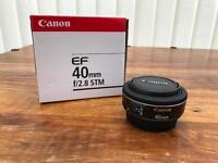 Canon EF 40mm f2.8 STM pancake Lens.