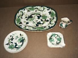 Masons Ironstone Green Mandalay Vintage China Collection -