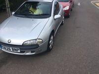 Vauxhall Tigra Chequers 1598cc Petrol 5 speed manual 3 door hatchback S Reg 18/02/1999 Silver