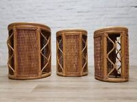 Bamboo Nest Of Tables (DELIVERY AVAILABLE FOR THIS ITEM OF FURNITURE)