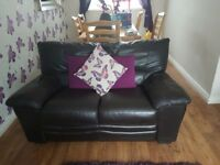 Brown Leather sofa, 3+2 seater
