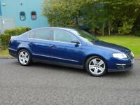 2008 '08' Volkswagen Passat 2.0 TDi SEL, 4 Door Saloon, MOT'd October 2017, Blue, 153,000 Miles