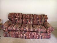 I have two large, three seater Liberty print sofas for sale