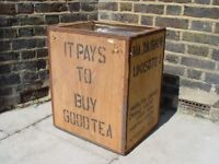 FREE DELIVERY Vintage Tea Box Retro furniture