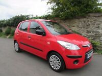 HYUNDAI i10 1.2 CLASSIC 5 DOOR HATCH 2010 FULL SERVICE HISTORY £30 A YEAR ROAD TAX
