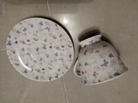 Flutterbyes fine bone china butterfly tea cups set of 6