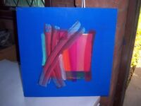 Abstract painting by Philippa Tunstill. Oil on board.