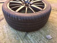 """Black Renault 19 clio kangoo laguna megane Alloy wheels 18"""" inch Suzuki swift Citroen alloys wheel"""