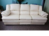Italian Leather Reclining Sofa