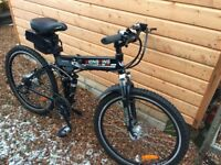 Electric folding bike - excellent condition