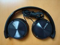 ****SONY MDR-ZX310 Foldable Headphones - Metallic Black - Compact design ****
