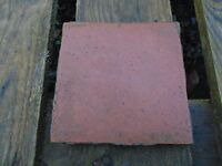 Reclaimed red clay floor tiles