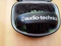 Audio technica ATH-M50X headphones with carry case