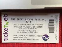 Great Escape 3 day ticket 60.00