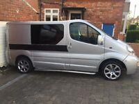 Renault traffic campervan / day van for sale oven and hob set up with rock n roll bed 12 months MOT