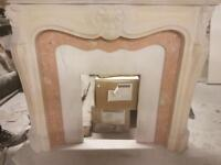 Marblesk fire surround with marble set