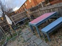 Garden table and benches free delivery