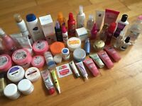 LOTS of hair, skin, body, cosmetics and beauty products 50p-£1.50 each or make an offer for the lot!