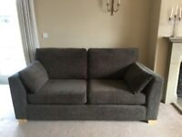 Chocolate Brown Chenille Very Comfortable 3 Seater Sofa - Free to collector