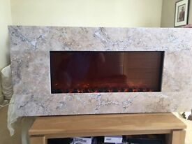New Celsi Electriflame electric flame effect fire with stone surround
