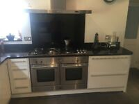 RANGEMASTER DOUBLE ELECTRIC OVEN, GAS HOB & HOOD FOR SALE £250 ONO.