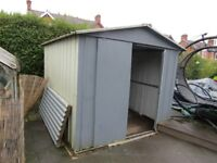 Metal Shed 9 1/2 x 7 1/2 foot - used