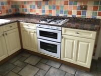 Kitchen units and worktops.