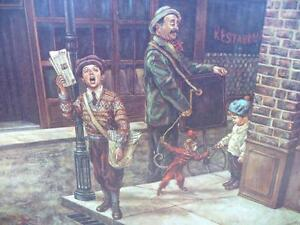 "Vintage, Victorian Street Scene by Lee Dubin ""The News Hawker"" Stratford Kitchener Area image 8"