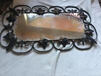 Small mirror metal frame 59x 34cm bronze £5