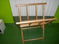 Fold away wooden art browser