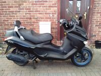 2010 Piaggio XEVO 125 automatic scooter, long MOT, excellent runner, good condition, use on CBT ,,,