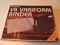 Twinlock Variform V8 binder and Twinlock V8 10 column cash sheets.