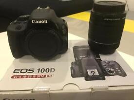Canon EOS 100D DSLR + 2 lenses - Very Good Condition