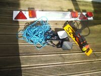 Car trailer items - Lightboard,mirrors, etc etc JOBLOT - bargain cheap - shed garage find