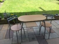 Small bistro kitchen table and 2 chairs