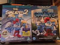 The Smurf 1 & 2 films on blue-ray