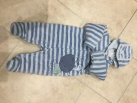Marks and Spencer Petit Bebe Snow suit Age 0-3 months