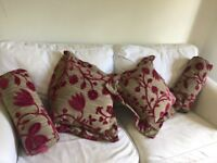 Designers Guild fabric cushions