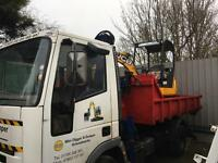 mini digger plus dumper and concrete breaker hire with driver