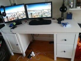 Compact desk bureau ikea ps white birch veneer in fulham