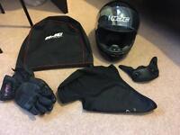 Black HJC motorcycle helmet - Medium
