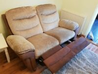 2x 2 seater Reclining sofas
