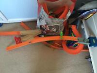 Bundle of hot wheels track and cars
