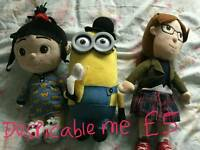 Despicable me / minions soft toys