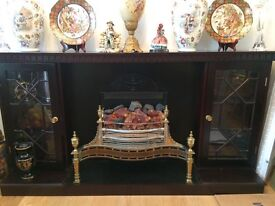 Wooden Fire Place Cabinet with Electric Fire