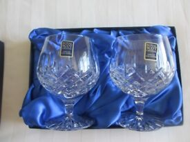 Royal Scot Crystal 2 gift boxed Brandy glasses. Brand New, Unwanted gift- £15.00.