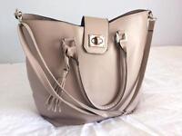 Large beige bag