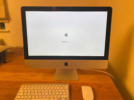 "iMac 21.5"" late 2012 - crack on screen bezel but works fine"