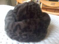 Ladies Marks & Spencer Brown Faux Fur Hat (NEW)