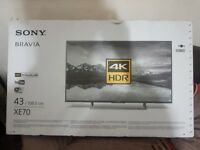 SONY BRAVIA 43inch UHD 4K SMART TV, Brand New condition only 3 month old